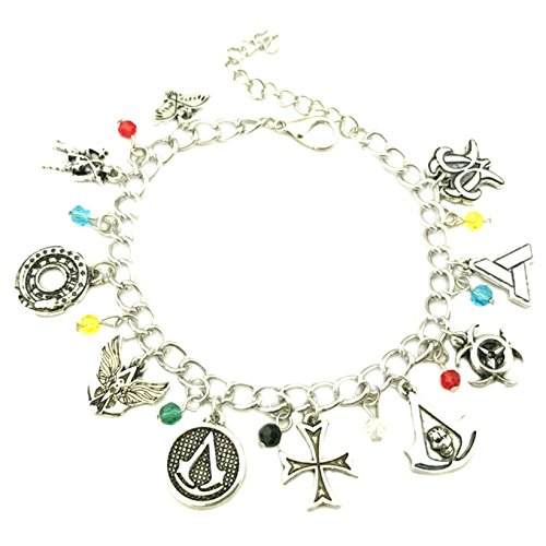 Athena Brand Assassin's Creed Charm Bracelet Quality Cosplay Jewelry Movie Gaming Series with Gift Box]()