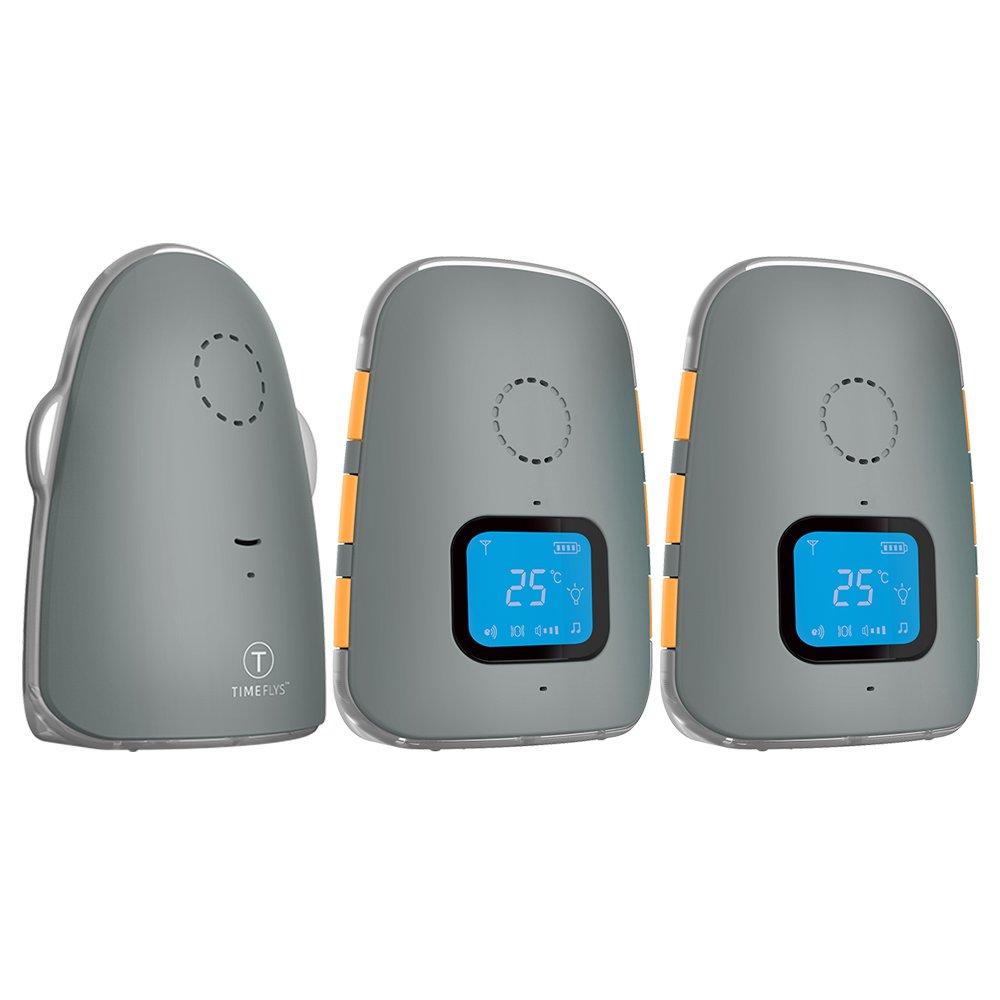 TimeFlys Crown Audio Babyphone Capteur de température Vibration Berceuses Pager Piles Rechargeables USB Connexion Zéro émission en mode nuit Fonction Intercom