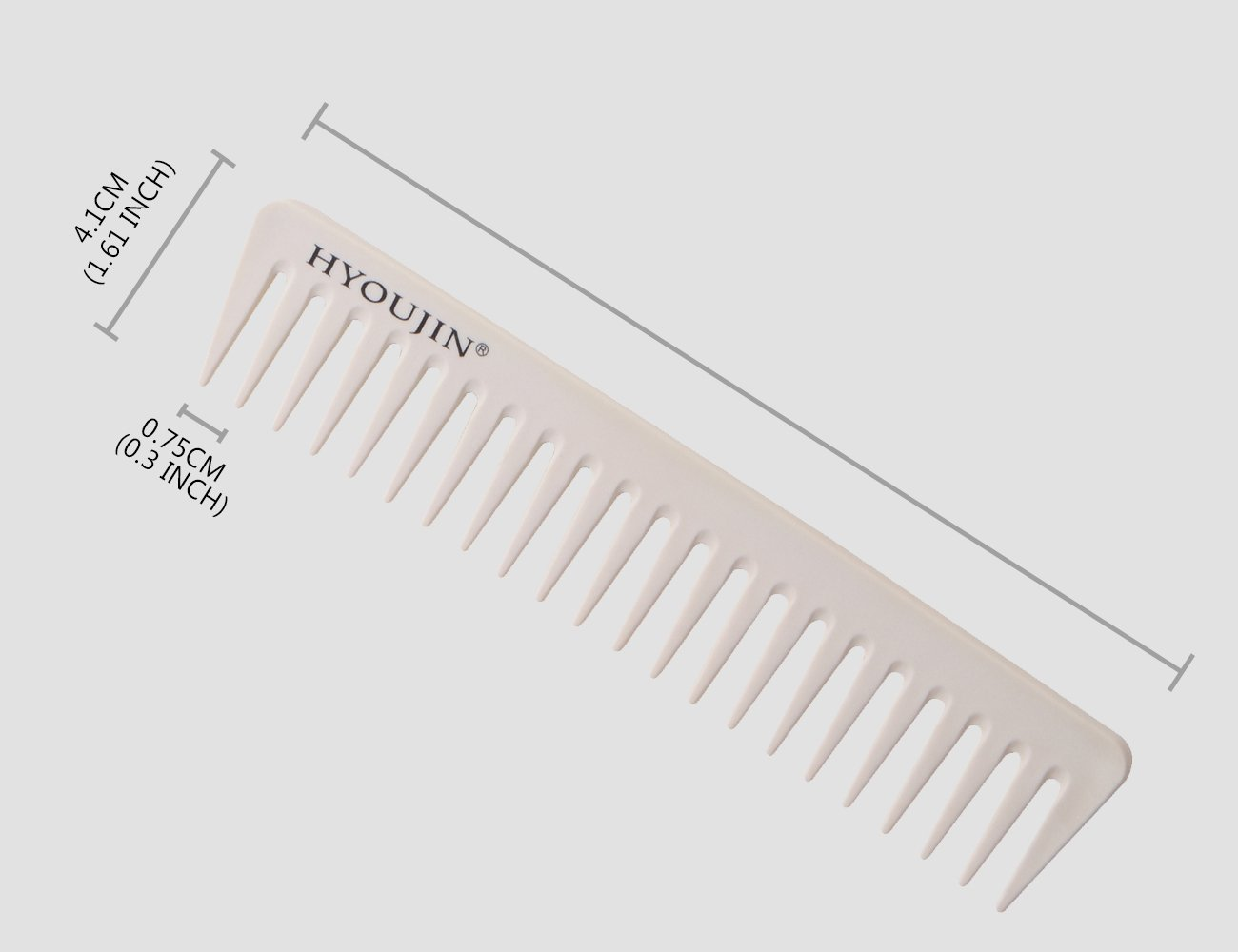 HYOUJIN 6in1 7ps Ivory White Professional Hair Styling Comb Set kit Beard Comb kit set & Heat-resistance w/Cutting Comb + Wide tooth comb + Pintail comb + 2 Hair Clips & Felt Pouch by HYOUJIN (Image #6)