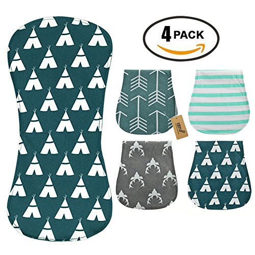 iZiv 4 PACK Baby Burp Cloths Feeding Nursing Towel, used for sale  Delivered anywhere in Canada