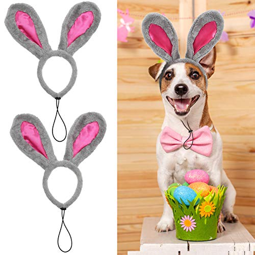 Blulu 2 Pieces Easter Bunny Headband Puppy Dog