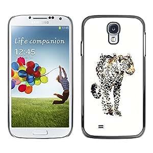 TopCaseStore / la caja del caucho duro de la cubierta de protección de la piel - Puma Animal Watercolor Big Cat Africa - Samsung Galaxy S4 I9500