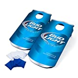 Officially Licensed Bud Light Cornhole Bean Bag Toss Game Set - Includes Bonus Mini Tabletop Cornhole Game!