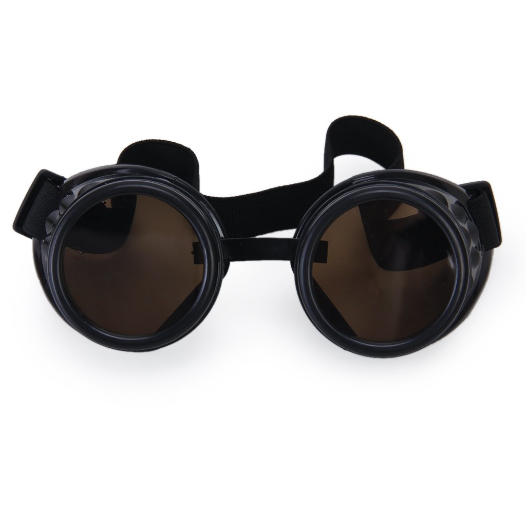 76b8fd9d15 Generic Unisex Plastic and Glass Cyber Goggles for Cossplay (Black ...