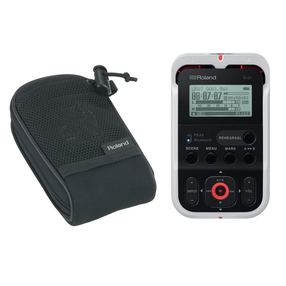 Roland R-07 Handheld Audio Recorder White with Free Roland Carry Pouch