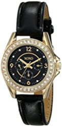 XOXO Women's XO3406 Analog Display Analog Quartz Black Watch