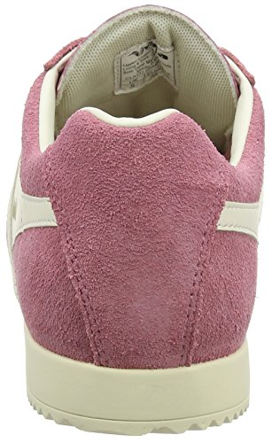 Gola Womens Cla192 Harrier Fashion Sneaker Rosa Scuro / Bianco Sporco