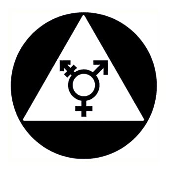 CGSignLab 2439180/_5gfxw/_12x12/_None Gender Neutral Restroom Sign in Black and White Repositionable Opaque White 1st Surface Static-Cling Non-Adhesive Window Decal 12 x 12 Vinyl Pack of 5