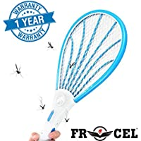 Frocel Mosquito Racket/Bat with Torch with Wire Charging (Multicolor)