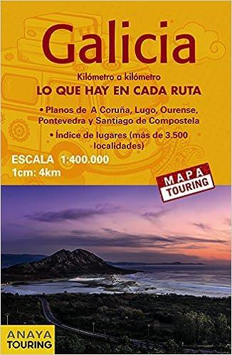 Mapa de carreteras Galicia desplegable , escala 1:340.000 Mapa Touring: Amazon.es: Anaya Touring: Libros