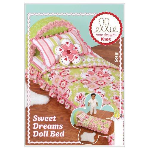 Kwik Sew K0105 Sweet Dreams Doll Bed Sewing Pattern, No Size by KWIK-SEW (Maple Doll Bed)
