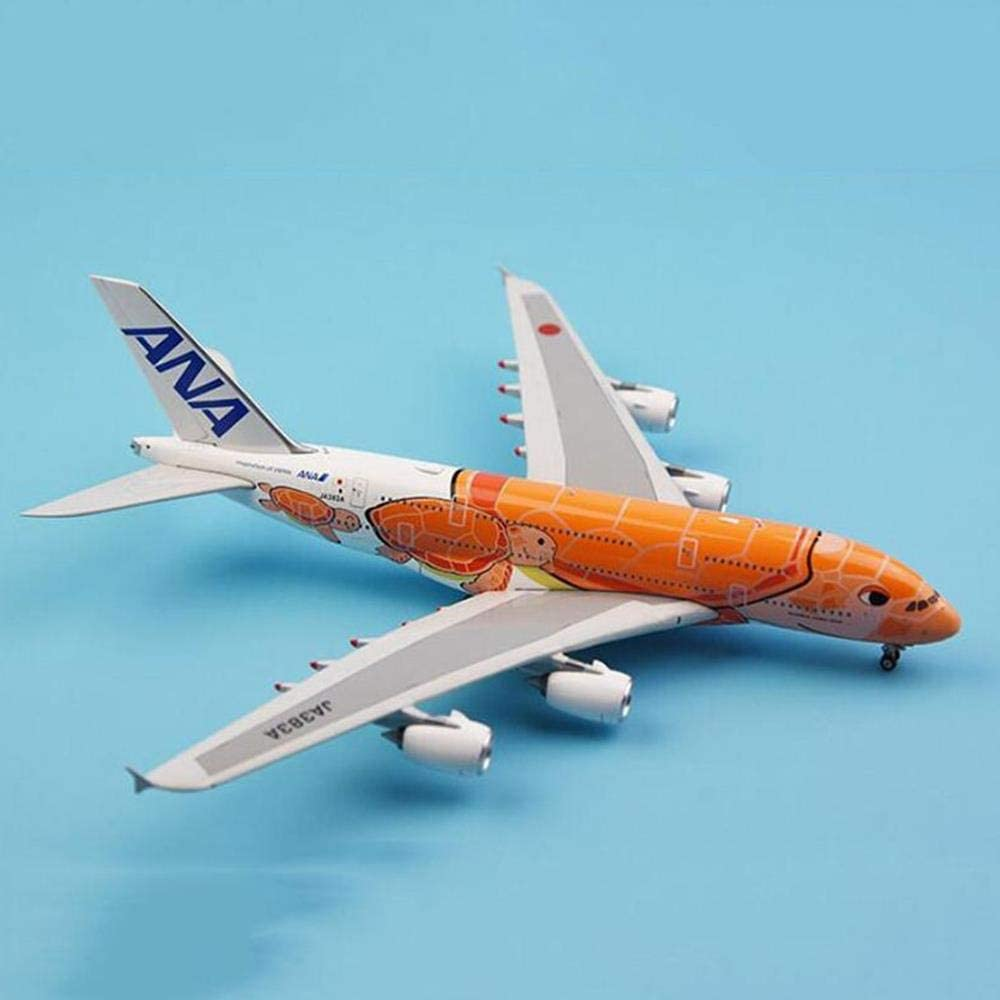 Qlrl Airbus A380 1 400 Scale Ana Japan Turtle Aviation Alloy Aircraft Collection Display Amazon De Sport Freizeit