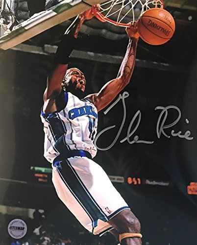 Glen Rice Signed Autographed 8x10 Photo Charlotte Hornets - FSG Authentic