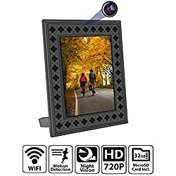 NuCam Yieye WiFi Photo Frame Hidden Spy Camera Home/Office Security Pet/Nanny Surveillance w. 720P HD 365 Days Battery Life Night Vision and PIR Motion Detection Instant Alerts 32GB Memory Included
