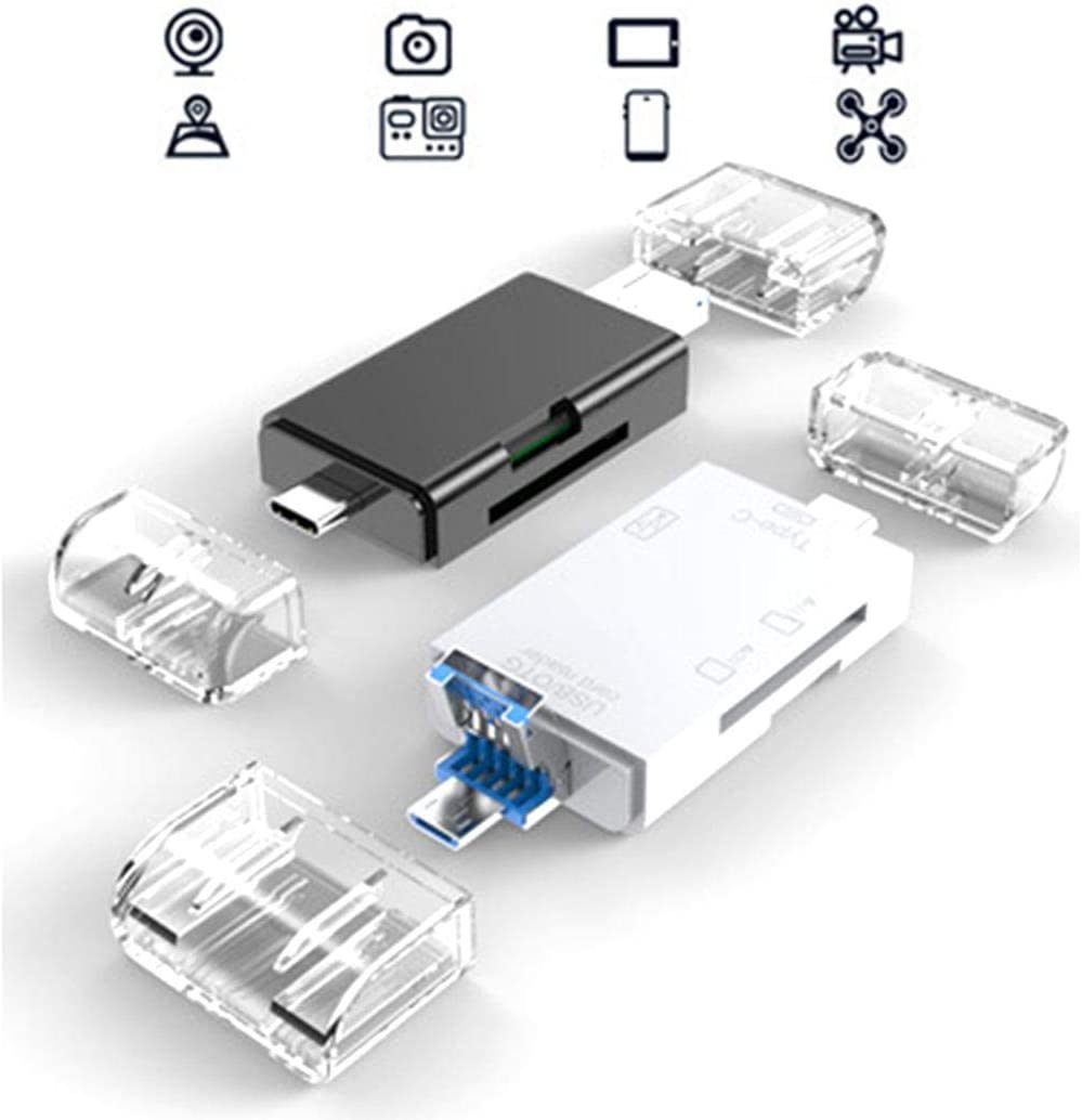 ROCONAT Lector de Tarjetas multifunci/ón Compatible con U-Disk TF SD Adaptadores para Tarjetas de Memoria