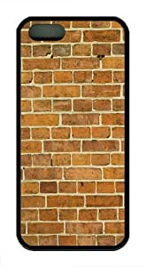 brick wall TPU Case Cover for iPhone 5 and iPhone 5s Black