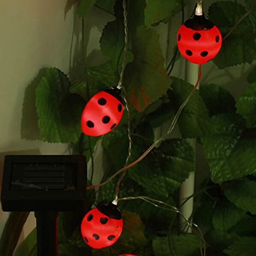 Waterproof Outdoor Solar Beetle LED String Light Garden Yarn Lamp