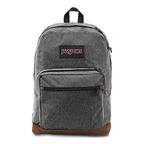 Jansport - Right Pack Digital Edition Student/Laptop Backpack, One Size, BLACK WHITE - Gray Finish Mist