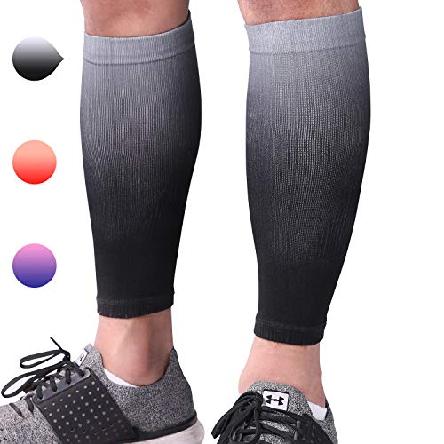 Aegend Calf Compression Sleeves for Men or Women - Great Support Compression Sleeves for Running, Cycling, Traveling - Calf Sleeves for Fatigue, Shin Splints, Calf Varicose Veins, Pain or Swelling