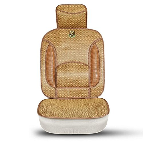 Cover Cool Rattan (Auto Car Seat Cover Cushion With Lumbar Back Support Cool and Refreshing Papyruses Bulrush Papyrus Rattan Insulator For Summer Universa)