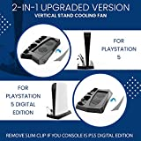 Vertical Stand with Cooling Fan for PS5 Digital