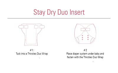 Image: Thirsties Duo Wrap | 100% polyester with urethane coating | Pliable, breathable ultra-comfortable waterproof fabric | Leg gussets for advanced leak protection
