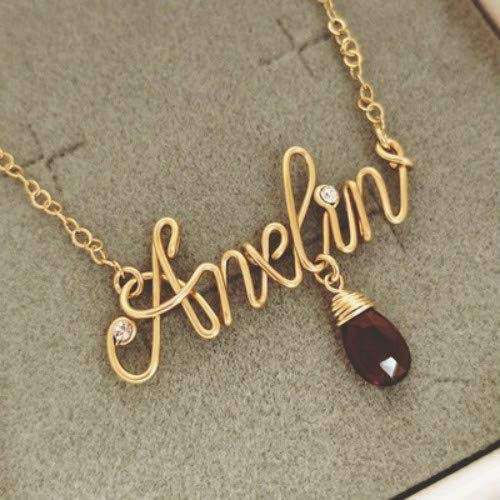 191867899e7a8 Amazon.com: Custom Name Necklace, Personalized Name Necklace, wire ...