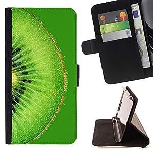 Momo Phone Case / Flip Funda de Cuero Case Cover - Frutas Macro Verde Kiwi - Sony Xperia Z3 D6603