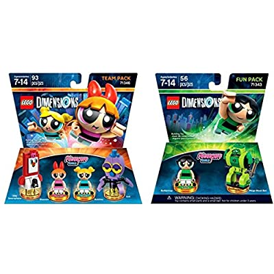LEGO Dimensions - Powerpuff Girls Team Pack Bundle with Powerpuff Girls Fun Pack: Video Games