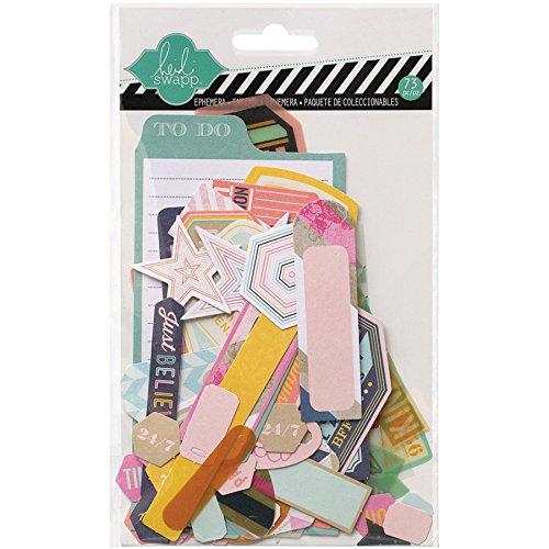 American Crafts Paper Heidi Swapp Mixed Media Ephemera Die-Cuts 7Cardstock and Vellum Shapes 01100