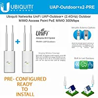 Ubiquiti UniFi AP Outdoor+ 2-PACK PRE-CONFIGURED 2.4 GHz Enterprise WiFi System