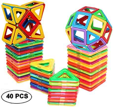 DreambuilderToy Magnetic Tiles Building Blocks Toys (40 PCS)