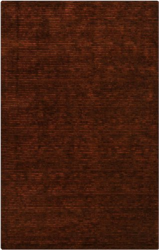 Surya Solid/Striped Rectangle Area Rug 2'x3' Cinnamon Spice Gaia Collection