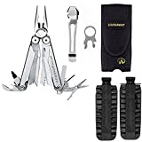 Leatherman New Wave Multi-Tool With Nylon Sheath +Leatherman 42 Piece Tool Steel Bit Kit + Removable Pocket Clip & Quick-Release Lanyard Ring