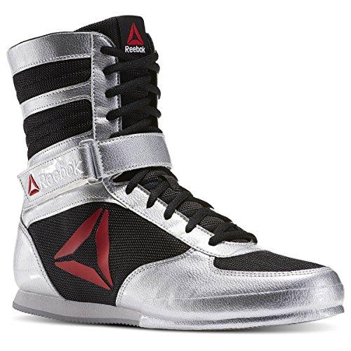 Metallic Patent Footwear (Reebok Men's Boot Boxing Shoe, Patent-Delta-Silver Metallic/Black/White, 11 M)