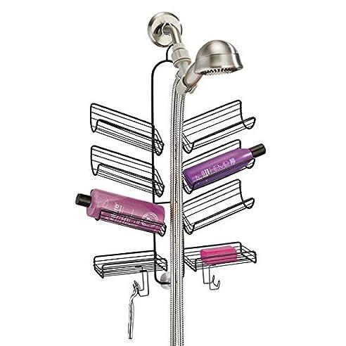 mdesign duschablage praktisches duschregal ohne bohren duschkorb zum hngen aus metall fr smtliches duschzubehr - Duschzubehor Zum Hangen