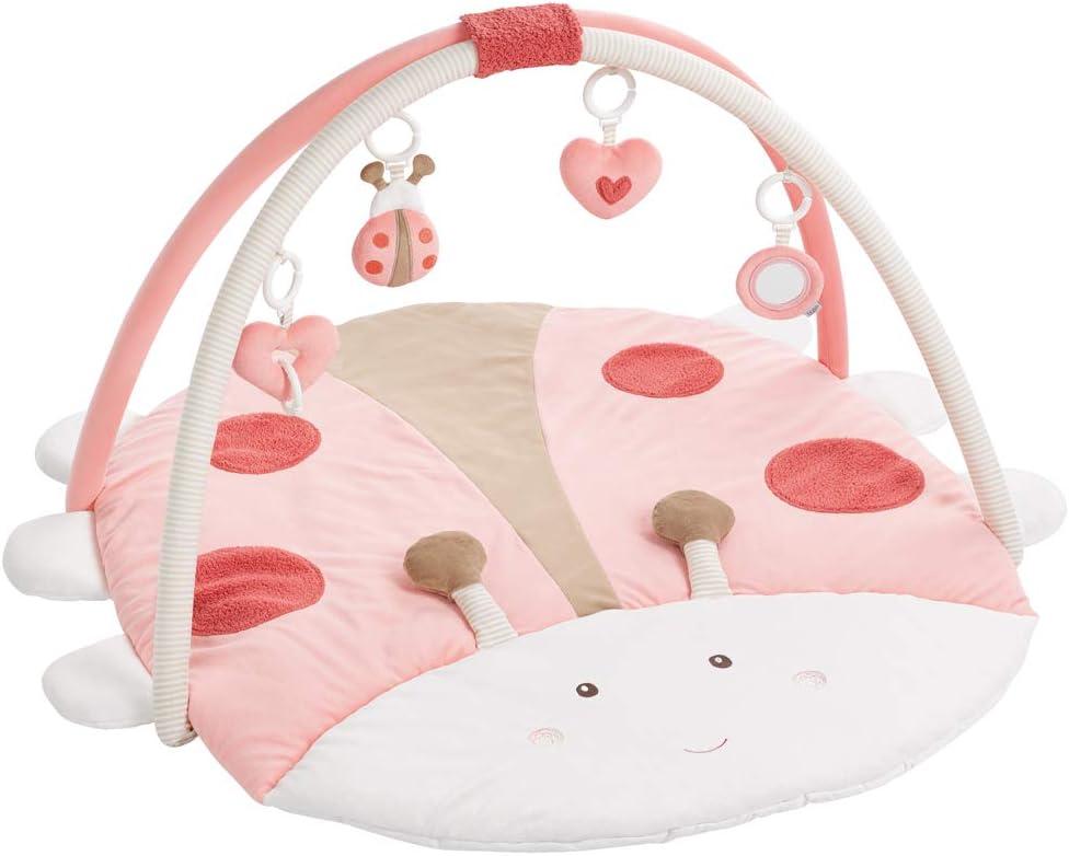 Fehn - Manta de actividades para bebé, redonda, 3D multicolor Käfer