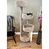 64'' New Stairway Cat Condo with 4 spacious porches great for multiple cat households or your active kitty | Brown