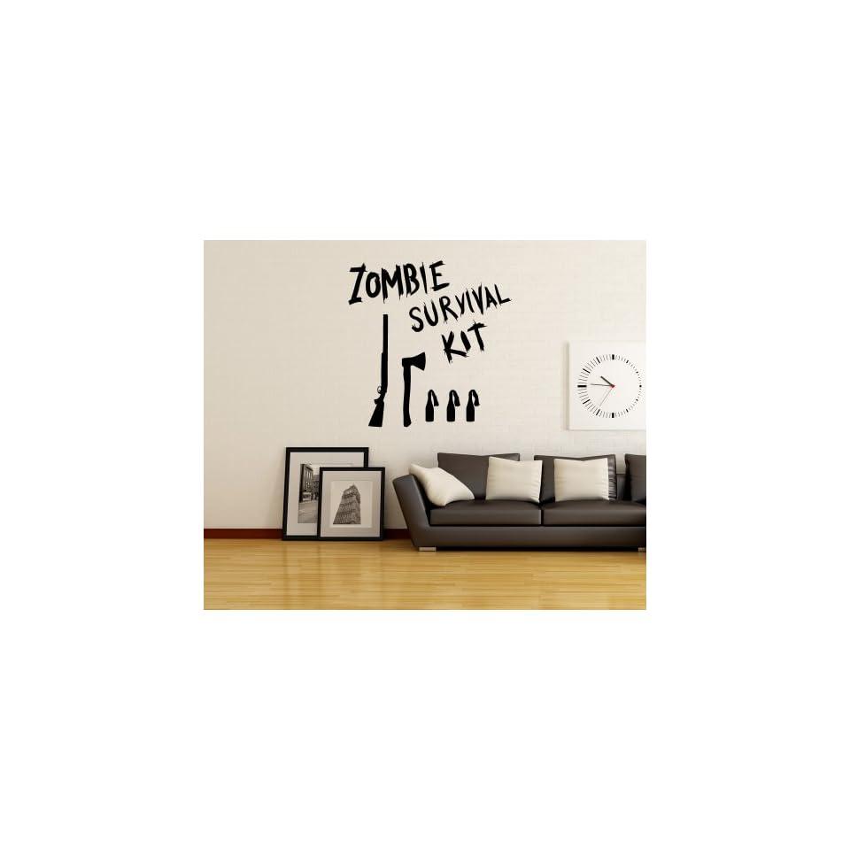 Stickerbrand Vinyl Wall Art Decal Sticker Zombie Survival Kit OS_MB983m