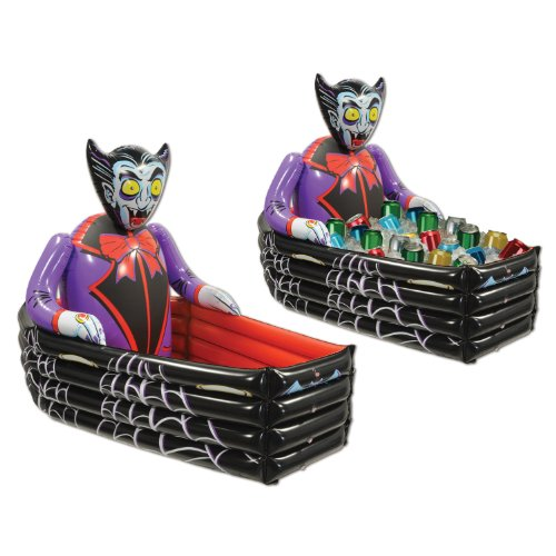 beistle inflatable vampire and coffin cooler 3 feet 6 inch width by 30 inch height - Blow Up Halloween Decorations