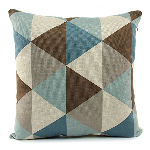 Brown And Blue Throw Pillows