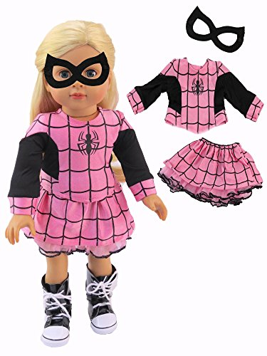 Girls Little Miss Spider Costumes (Pink Little Spider Girl Halloween Costume | Fits 18