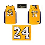 Kobe Bryant Autographed/Signed Los Angeles Lakers Gold Adidas Swingman NBA.