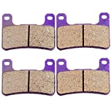 Kevlar Carbon Fiber Brake Pads ECCPP Motorcycle Replacement Front Braking Pads Kits Set for 2004-2011 Suzuki Boulevard M109R2 VZR 1800