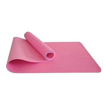Aosbos 6 mm Grueso Antideslizante Yoga Mat Gran acolchada ...