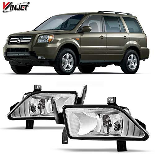 Winjet WJ30-0137-09 OEM Series for [2006-2008 Honda Pilot] Clear Lens Driving Fog Lights ()