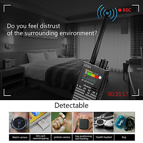 Eilimy Anti-Spy Wireless RF Signal Detector Set [2018 latest upgrade] Bug GPS Camera Signal Detector,for Hidden Camera GSM Listening Device GPS Radar Radio Scanner Wireless Signal Device Finder by Eilimy (Image #5)