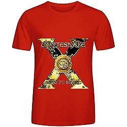 Whitesnake Good To Be Bad Soul Men Round Neck Screen Printed Shirts Red