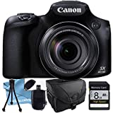 Canon PowerShot SX60 HS Digital Camera, Memory Card, Camera case, Table Top Tripod, LCD Screen Protector & More