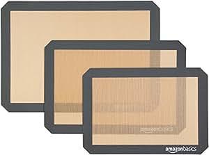 AmazonBasics Silicone Baking Mat, 3-Piece Set